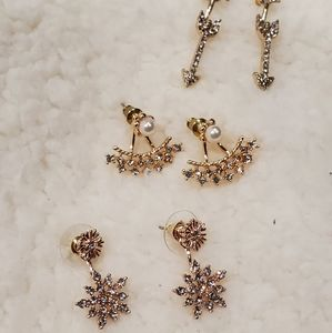 Korean Earrings (set of 3)